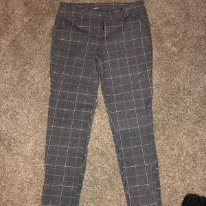 Plaid pants from Old Navy